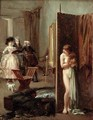 The Artists Studio or Unexpected Visitors 1882 - Albert Jnr. Ludovici