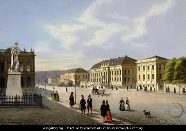 Unter den Linden view towards Prinzessinenpalais - Ludwig Edward Luetke
