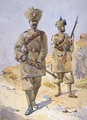 Soldiers of the 30th Punjabis Awan and the 20th Duke of Cambridges Own Infantry - Alfred Crowdy Lovett