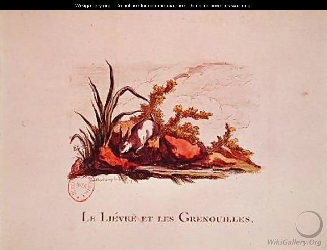 The Hare and the Frogs - (after) Loutherbourg, Philippe de