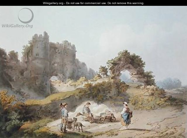 Gate of Carisbrook Castle - (after) Loutherbourg, Philippe de