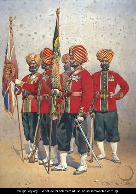 Soldiers of the 15th Ludhiana Sikhs - Alfred Crowdy Lovett