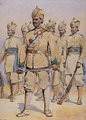 Soldiers of the 33rd Punjabis Subadar Punjabi Musalmans - Alfred Crowdy Lovett