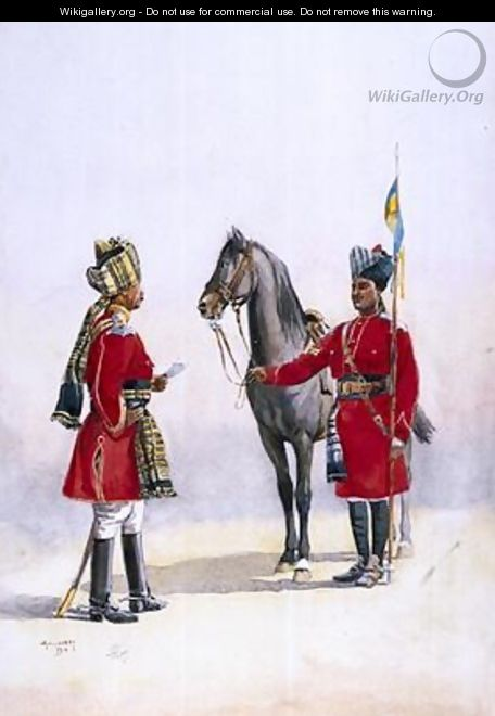 Alwar Lancers Commandment and Chohan Rajput - Alfred Crowdy Lovett