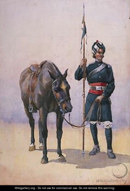 Soldier of the 19th Lancers Fanes Horse Punjabi Musalman - Alfred Crowdy Lovett