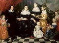 Group Portrait said to be the Kuysten Family - Isaac Luttichuys