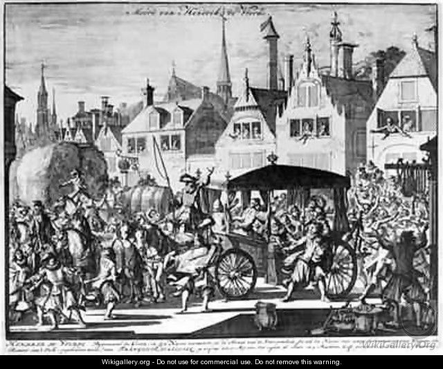 The Assassination of Henri IV 1553-1610 14th May 1610 by Francois Ravaillac - Jan Luyken