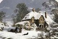 Returning Home through the Snow - (after) Lydon, Alexander Francis