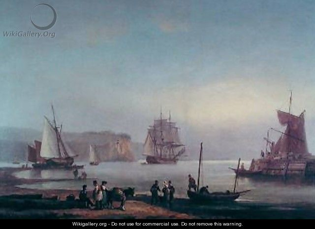Shipping in an Estuary - Thomas Luny