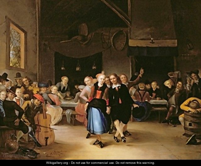 Wedding Dance in a Tavern - Gerrit Lundens