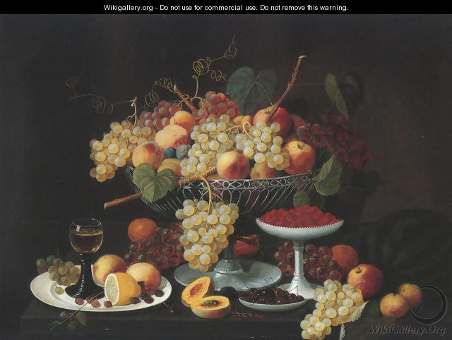 Still Life With Fruit 1850 - Severin Roesen
