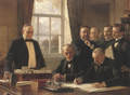 Signing Of The Peace Protocol Between Spain And The United States August 12 1898 - Théobald Chartran