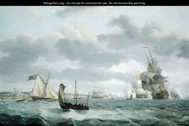 Men-of-War and other Ships in a Breeze off Dover 1803 - Thomas Luny