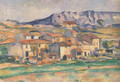 Mont Sainte Victoire And Hamlet Near Gardanne 1886 90 - Paul Cezanne