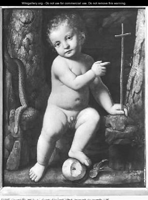 The infant Christ as saviour of the world 1520 - Bernardino Luini