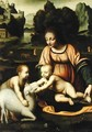 Madonna and Child with St John and the Lamb 1520 - Bernardino Luini