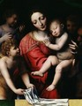 The sleeping Christ or Madonna and sleeping Child with three angels 1532 - Bernardino Luini