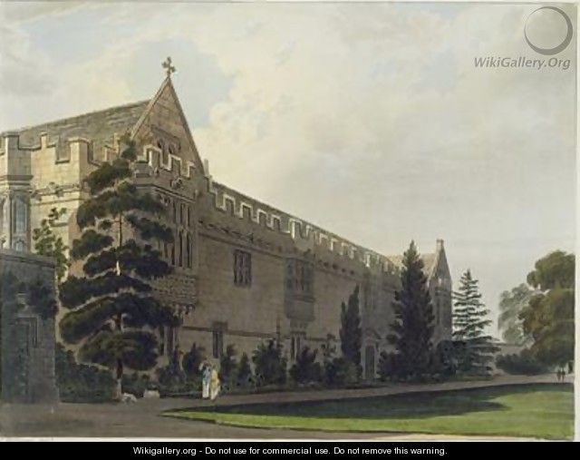 St Johns College seen from the garden - Frederick Mackenzie