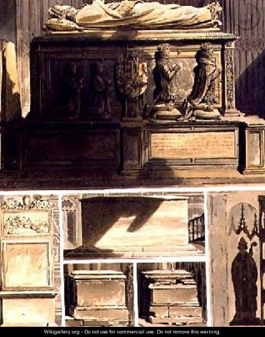 Tombs from Edward the Confessors Chapel - Frederick Mackenzie