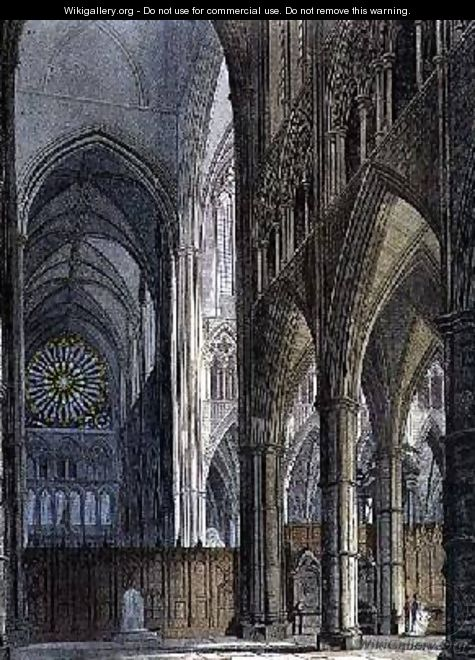 North View across the Transept from Poets Corner - Frederick Mackenzie