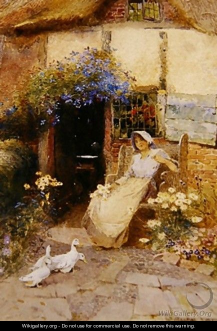 At the Cottage Door 1913 - Thomas Mackay