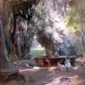 Fountain in the Borghese Gardens - Charles Hodge Mackie