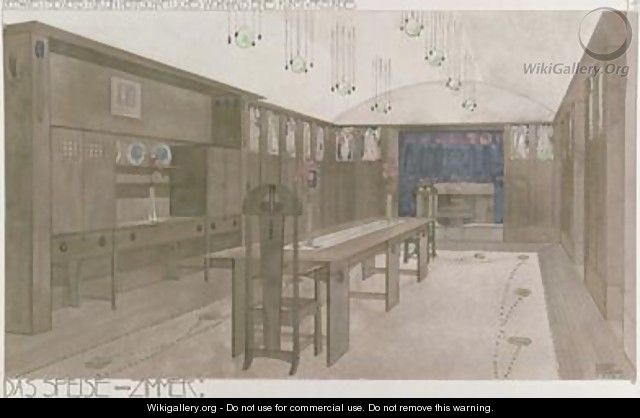 Design for a Dining Room 1901 - Charles Rennie Mackintosh