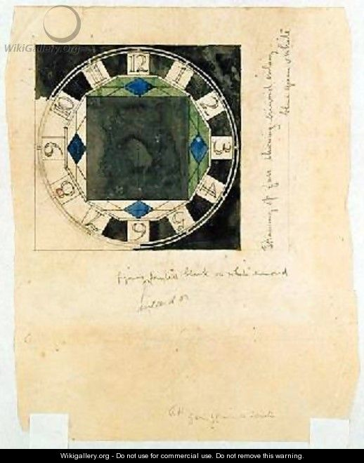 Design for a clock face 1917 - Charles Rennie Mackintosh