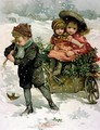 Gathering Holly Victorian card - Lizzie (nee Lawson) Mack