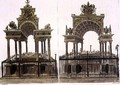 The Tombs of Queen Elizabeth I and Mary Queen of Scots - Frederick Mackenzie