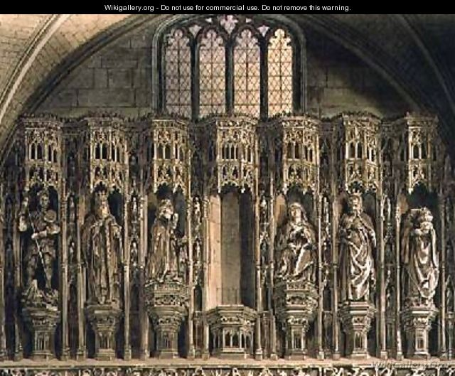 Screen over the Chantry of Henry the Fifth - Frederick Mackenzie