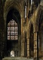 Interior View of Westminster Abbey Looking Towards the West Entrance - Frederick Mackenzie