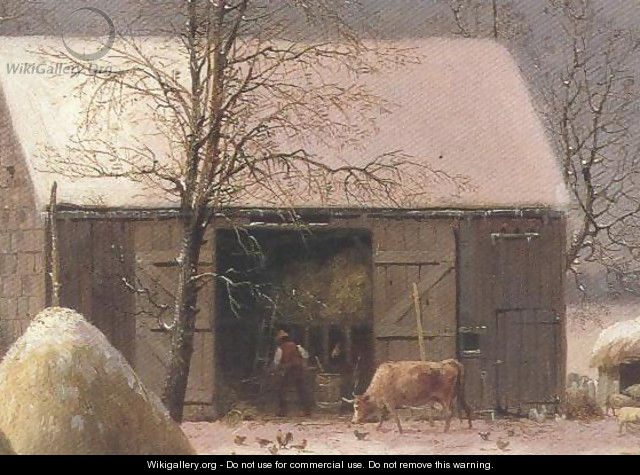 Farmyard In Winter 1858 - George Henry Durrie