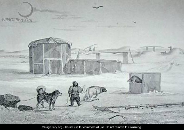 Eskimaux House built of ice Igloolik - Captain George Francis Lyon