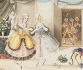 Characters from Cosi fan tutte by Mozart 1840 - Johann Peter Lyser