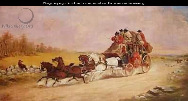 The Royal Mail Coach between the Fox and the Hunt 1881 - John Charles Maggs