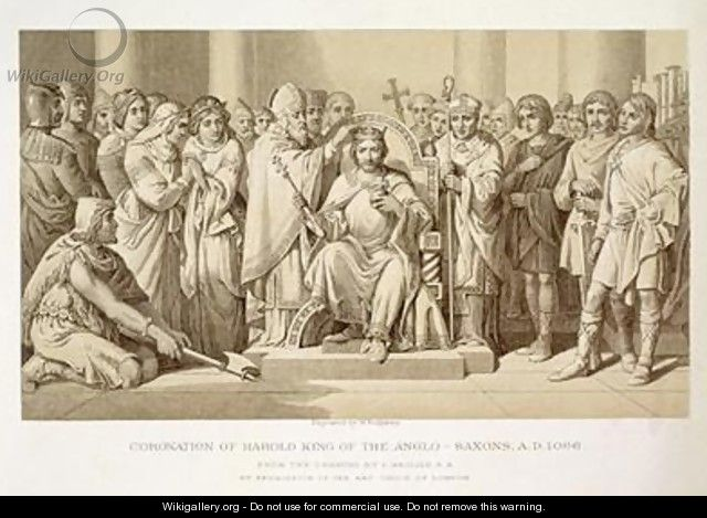Coronation of Harold King of the Anglo-Saxons - (after) Maclise, Daniel