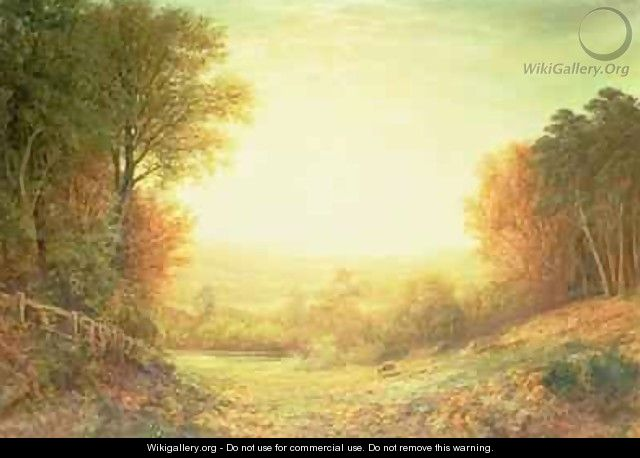 On Hampstead Heath in 1862 or When the Sun in Splendour Fades 1862 - John MacWhirter