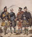 Four Gentlemen in Highland Dress 1869 - Kenneth Macleay