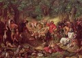 Robin Hood and his Merry Men Entertaining Richard the Lionheart in Sherwood Forest - Daniel Maclise