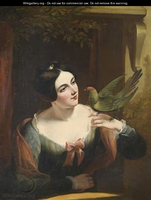 The Pet Bird - Daniel Maclise