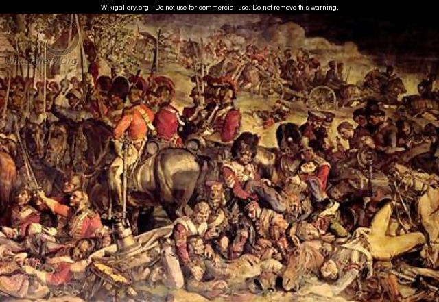 The Meeting of Wellington and Blucher after Waterloo 3 - Daniel Maclise