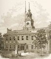 County Court House or Independence Hall Philadelphia Pennsylvania 1880 - Reverend Samuel Manning