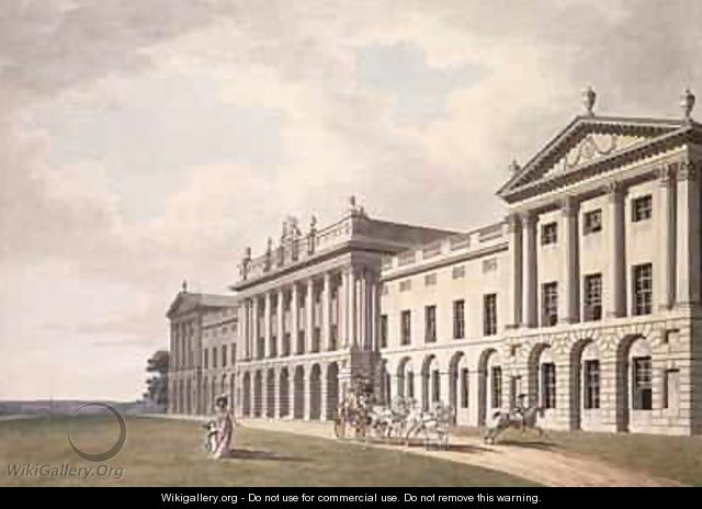 View of Heveningham Hall in Suffolk the Seat of Sir Gerrard Vanneck Bart - Thomas Malton, Jnr.