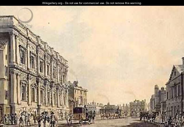 Whitehall with the Birmingham House - Thomas Malton, Jnr.