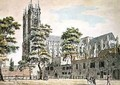 Deans Yard Westminster View of Westminster Abbey from the West 1793 - Thomas Malton, Jnr.