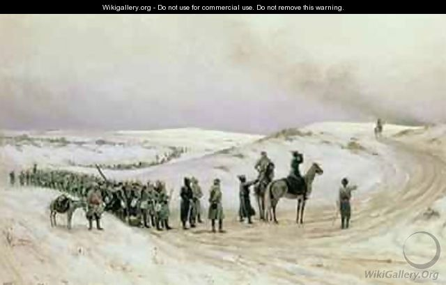 Bulgaria a scene from the Russo-Turkish War of 1877-78 1879 - Mikhail Georgievich Malyshev