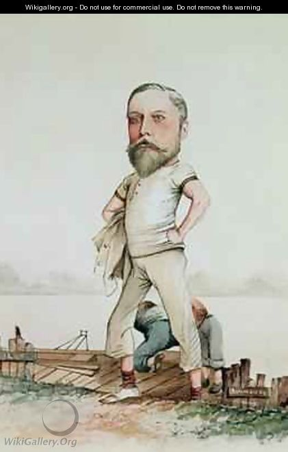 A Rowing Type caricature of Edward VII 1841-1910 1880 - F.H. Manby