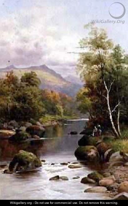 Evening on the Glaslyn North Wales 1909 - William Henry Mander