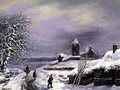 Winter Scene with Figures - Louis Claude Mallebranche